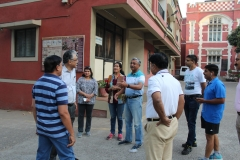 Conducting Heritage walk with Army personel -min